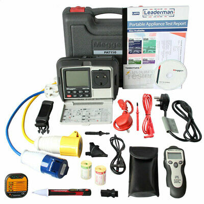 £628.99 • Buy Megger PAT150 Calibrated Portable Appliance PAT Tester With RCD Testing KIT5P