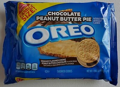 NEW Nabisco Oreo Chocolate Peanut Butter Pie Cookies FAMILY SIZE FREE SHIPPING • 10.80£