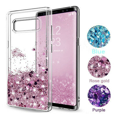 AU5.18 • Buy For Samsung Galaxy S10 + J7 S6 S9 Case Glitter Liquid Quicksand Clear Soft Cover