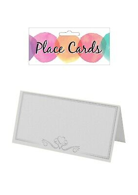 £1.89 • Buy 1/25/50/75/100 White Place Name Cards Party Wedding Setting Heart Design