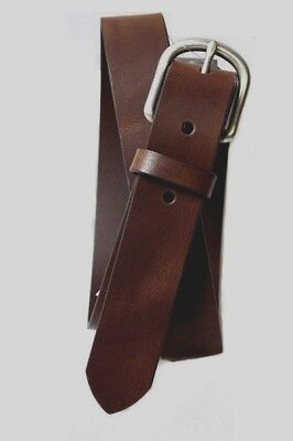 $9.99 • Buy New! Old Navy Brown Classic Leather Belt W/ Silver Buckle Kids Boys Medium M (8)
