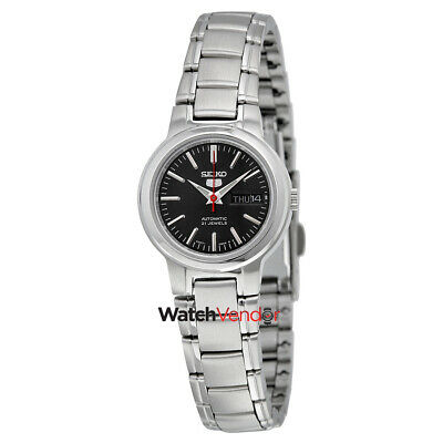 $ CDN132.99 • Buy Seiko 5 Black Dial Stainless Steel Automatic Ladies Watch SYME43