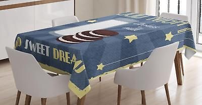$27.99 • Buy Sweet Dreams Tablecloth Ambesonne 3 Sizes Rectangular Table Cover Home Decor