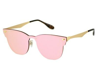 713f987802e RAY-BAN Sunglasses Blaze Clubmaster Gold Frame Pink Mirrored Lens RB3576N  043 E4 •