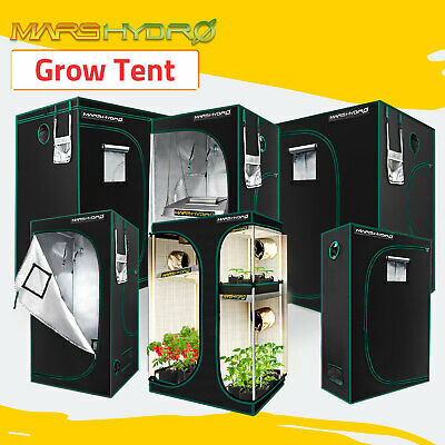 AU192 • Buy Mars Hydro Grow Tent Kits Hydroponic 1680D Oxford Reflective Indoor Plants Room