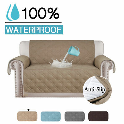 AU26.99 • Buy 100% Waterproof Sofa Covers Couch Covers Slip Covers For Dogs With Strap 1/2/3/4