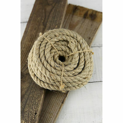 Natural Jute Rope Twisted Decking Cord Garden Boating Sash Camping 6-60mm • 10.63£