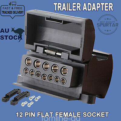 AU14.09 • Buy 12 Pin Flat Trailer Socket Connector Female Caravan Camper Adaptor 4WD