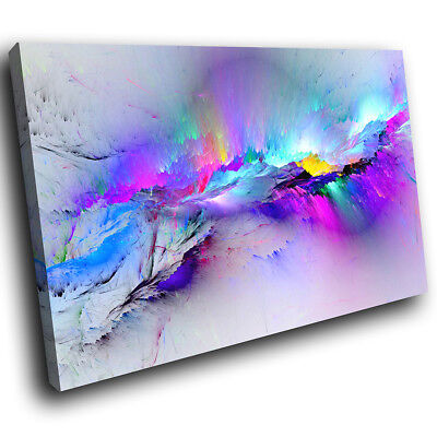 Blue Pink Multicoloured Modern Abstract Canvas Wall Art Large Picture Prints  • 23.99£