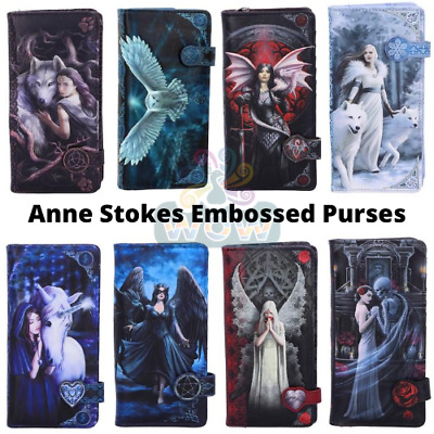 Ladies Long Embossed Purse By Anne Stokes - Wolf Wolves Owl Gothic Nemesis Now • 19.50£