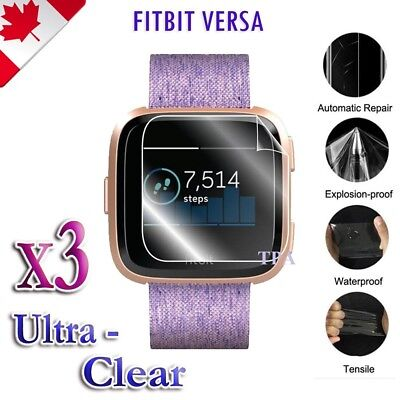 $ CDN4.99 • Buy 3X Ultra Clear Hydrogel Flex Screen Protector Film Guard For Fitbit Versa 2