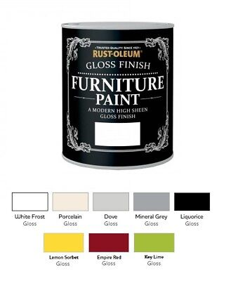 Rust-Oleum Gloss Furniture Paint 750ml / 125ml Chic Shabby Vintage Paints • 22.52£
