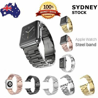 AU23.94 • Buy For Apple Watch 3 2 1 38mm 42mm New Stainless Steel Interchangeable Metal Band