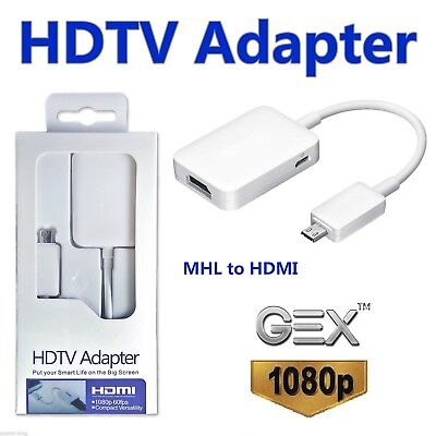 AU11.94 • Buy MHL Micro USB 2.0 To HDMI HDTV Adapter For Samsung Galaxy S3 S4
