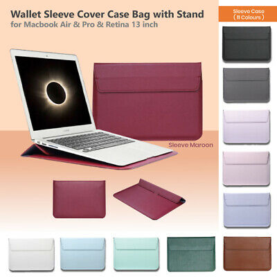 AU15.95 • Buy Wallet Sleeve Cover Case Bag With Stand For Macbook Air & Pro & Retina 13 Inch