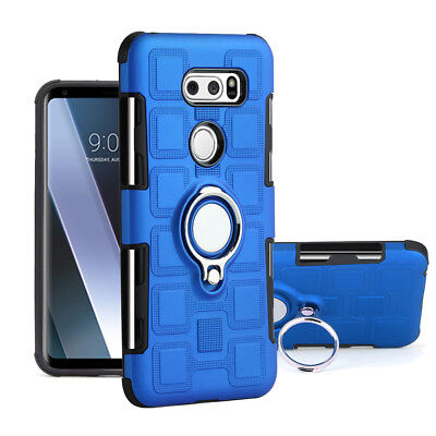 AU6.54 • Buy For LG V30 Hybrid Shockproof Ring Stand Hard Armor Case Rugged Protective Cover