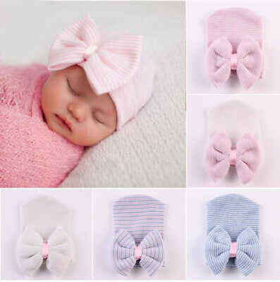 AU7.95 • Buy  Newborn Baby Beanie 0-6 Months Baby Hats 100% Cotton Hats Hospital Hat