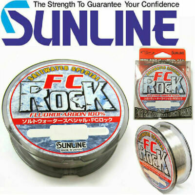 AU24.79 • Buy Sunline FC Rock Fluorocarbon Fishing Leader Line 100% Fluro Carbon - Choose Size