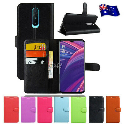 AU7.99 • Buy Wallet Leather PU Flip Case For Oppo R15 R17 Pro A57 A73 A77 AX5 R11S Plus Cover