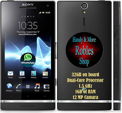 £101.93 • Buy Sony Xperia S 32GB Black (Ohne Simlock) Wlan 3G GPS 12MP Android 4,1 GUT OVP