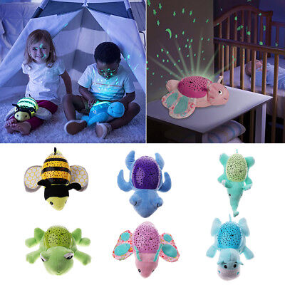 Baby Night Light Projector Lamp Bedroom Plush Stuffed Toy Music Star Projector • 18.44£