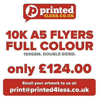 £124 • Buy 10,000 A5 Flyers - Full Colour - Double Sided - 150gsm - Leaflets