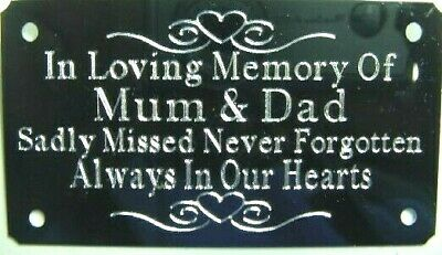 Metal Bench Memorial Plaque Plate Sign Personalised Engraved 85x45mm • 5.99£