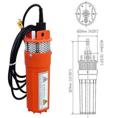 £87.49 • Buy DC 12V Solar Submersible Solar Deep Well Water Pump For Farm Watering Irrigation