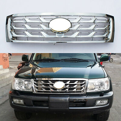 $230.99 • Buy Fit For Land Cruiser 4500 FJ100 LC100 2006-2007 Chrome Front Grill Hood Grille