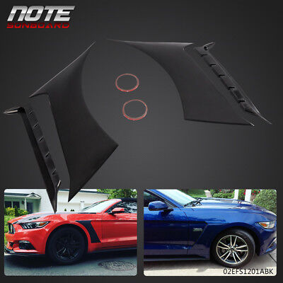 $75.72 • Buy For 2015-2017 Ford Mustang GT350 Front Black Side Fender Scoops Panel Vent