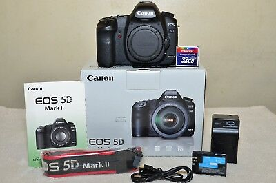 $ CDN1059.23 • Buy Canon EOS 5D Mark II 21.1 MP (Body Only) W/Box + Extras_ Excellent!!