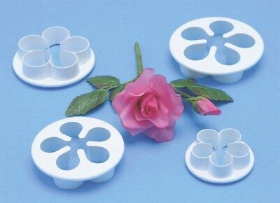PME 5 Petal Flower Plastic Cutter For Sugarcraft Icing Cake Decorating 4 Sizes • 2.69£