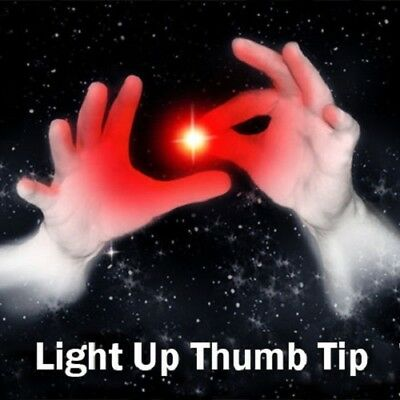 £8 • Buy Set Of 2 Magic Rubber Thumb Tip Light Up RED Flashing Close Up Real Finger Trick