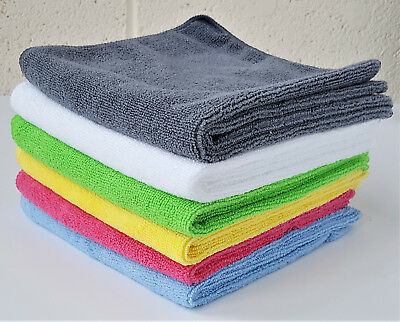 40x40 Microfibre Cleaning Cloths Car Bathroom Polishing Cloth Colour VARIATION  • 4.09£