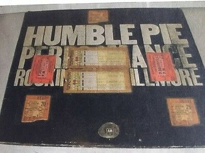$ CDN1189.08 • Buy Humble Pie Steve Marriott Guitar Pick Fillmore Concert +Ticket Stub & Program