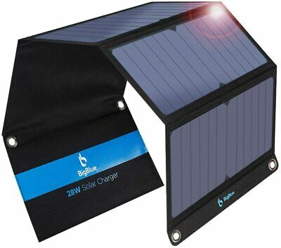 £127.45 • Buy ☀️BigBlue Solar Charger SunPower Mobile Solar Panel USB Ports For IPhone Tablet