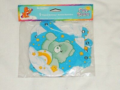 New Care Bears  1- Happy Birthday Banner  5 Ft. Long-  Party Supplies • 5.24£