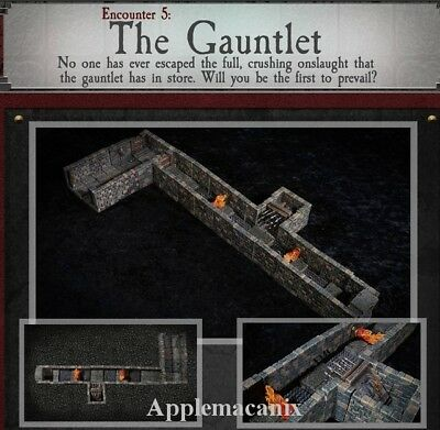 $ CDN264.59 • Buy Dwarven Forge PAINTED The Gauntlet Dungeons Of Doom Magnets - D&D Tiles NEW