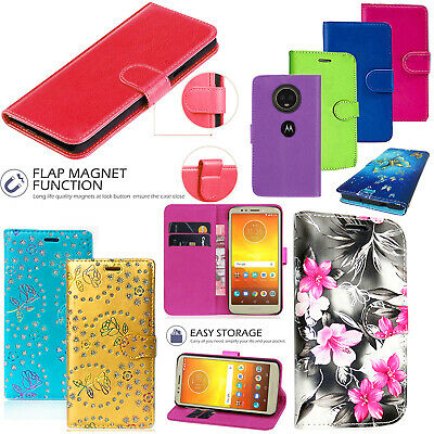 For Motorola Moto G6 Plus Play E5 2018 E5 Play PU Leather Flip Case Stand Cover • 3.59£