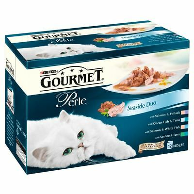 Purina Gourmet Perle Seaside Duo - Pouch (12x85g) - Pack Of 2 • 20.99£