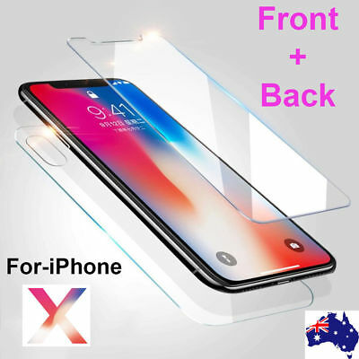 AU6.95 • Buy FRONT AND BACK Tempered Glass Screen Protector IPhone Xs 11 Pro Max XR 8 7 6Plus