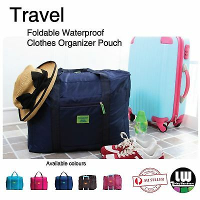 AU8.28 • Buy Foldable Waterproof Travel Clothes Organizer Pouch Storage Suitcase Luggage Bag