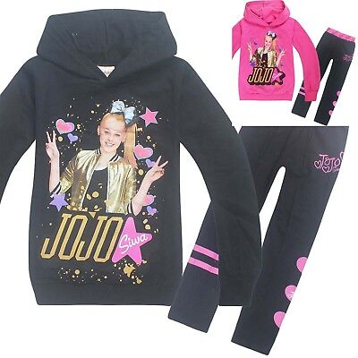 AU18.95 • Buy JOJO SIWA Girls Long Hoodie T-shirt And Leggings Set Outfit Size 2-10 Au Stock