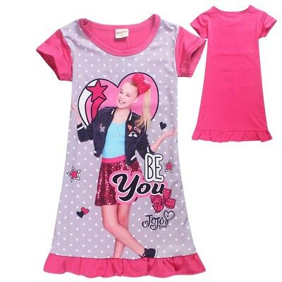 AU14.95 • Buy JOJO SIWA Girls Summer Dress Nightie Pjs Pyjamas Size 2-8 Au Stock Xmas