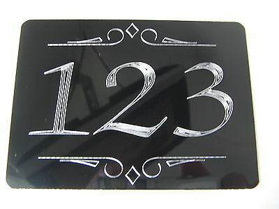 £4.99 • Buy House Door Number Any Number You Wish Engraved4 X3  Screw On Or Stick On Plaque