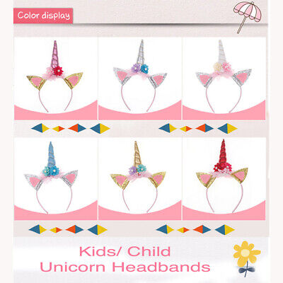 AU9.99 • Buy Unicorn Costume Accessory Headband Girls Baby Tiara Child Birthday Fancy Dress