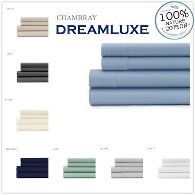 AU69.95 • Buy 1000Thread Count 100% Cotton 4p Flat, Fitted Bed Sheet Set King Queen Double
