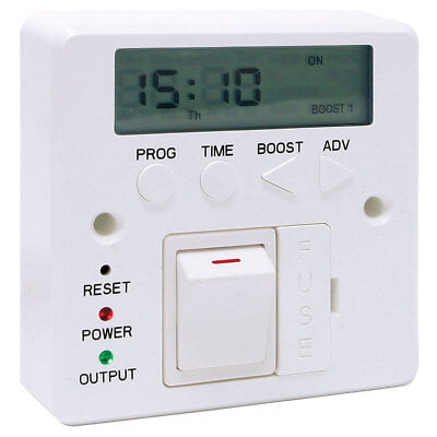 7 Day 3kW Fused Timer Spur Switch Digital LED Lighting Storage Immersion Heater • 29.49£
