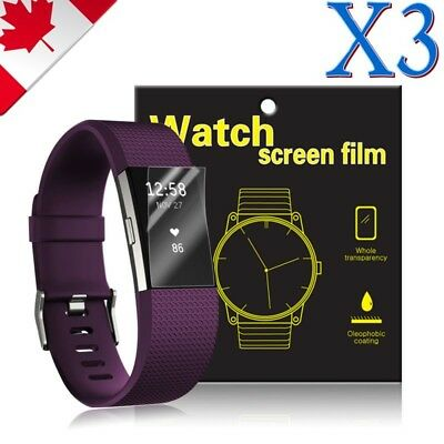 $ CDN4.99 • Buy 3X Ultra Clear Hydrogel AQUA Screen Protector Film Guard For Fitbit Charge 2 3