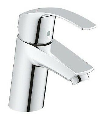 GROHE 3246720L Eurosmart Mono Basin Mixer Tap Single Lever Smooth Body HP LP • 52.95£